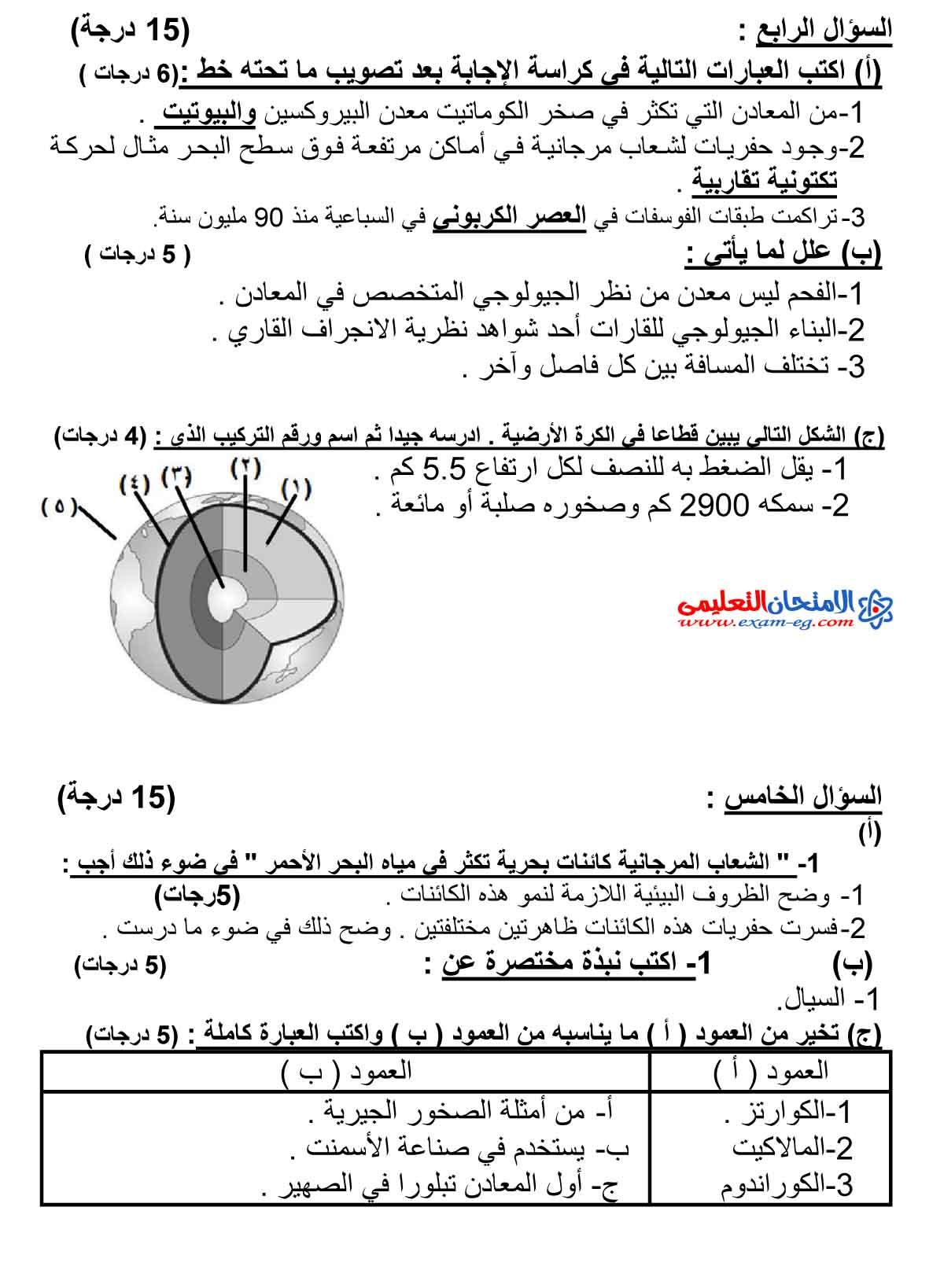 جيولوجيا وعلوم بيئية 4 - مدرسة اون لاين-3