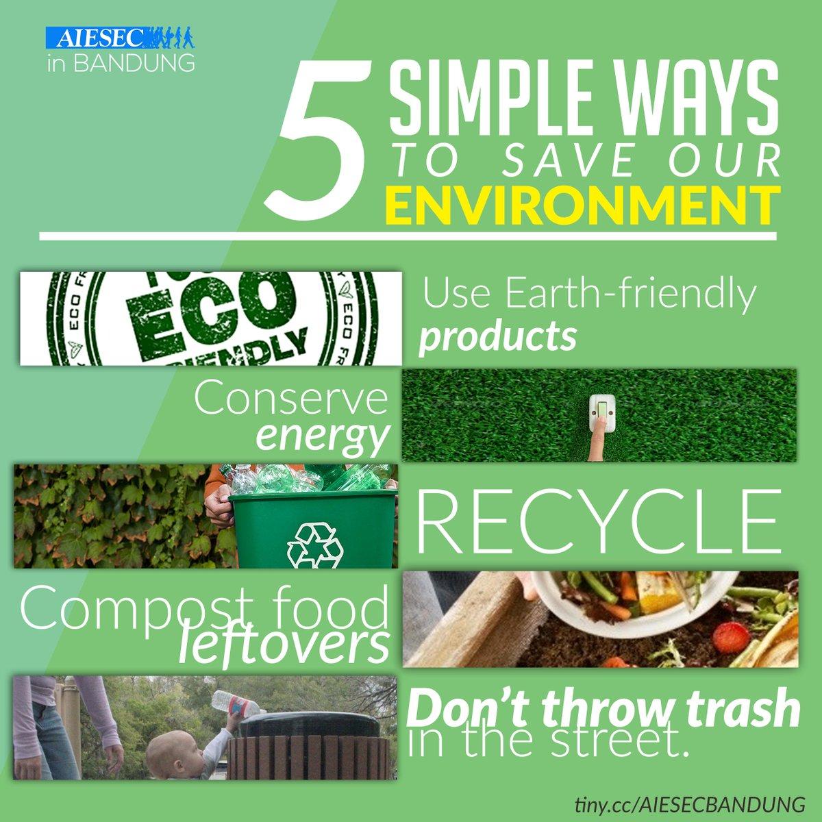 مقترحات للحفاظ على البيئة باللغة الانجليزية